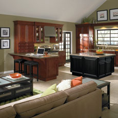 Casual cabinets by Homecrest Cabinetry