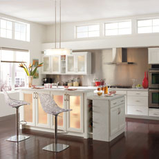 Contemporary cabinets by Homecrest Cabinetry