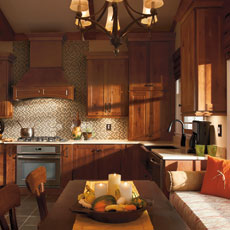 Rustic cabinets by Homecrest Cabinetry