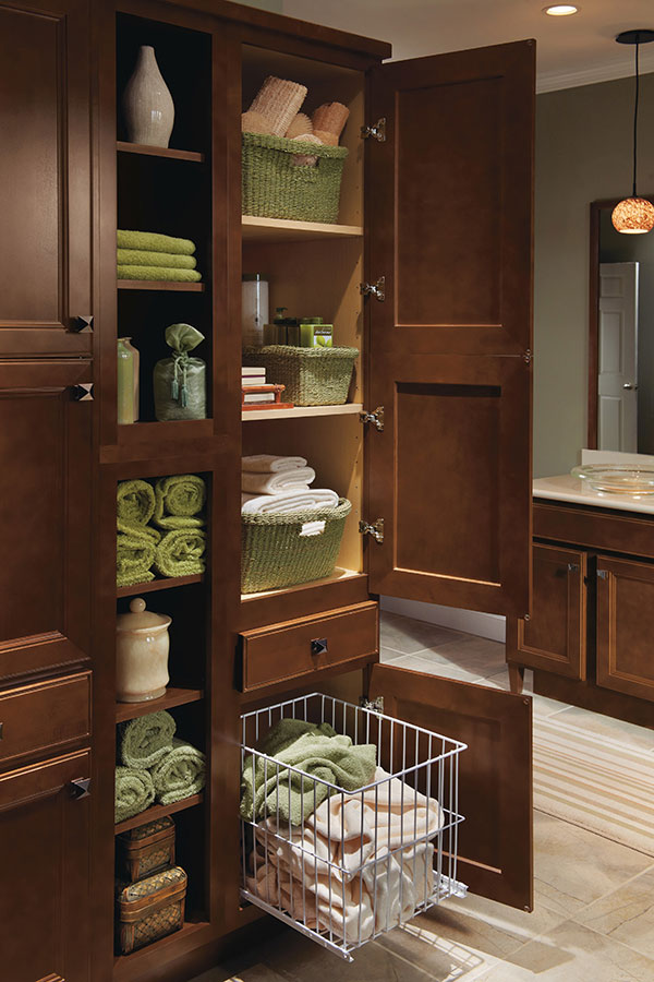 Linen utility cabinet with hamper homecrest for All american kitchen cabinets
