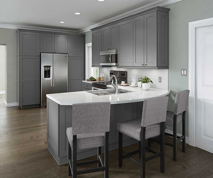 Gray Casual Kitchen Cabinets
