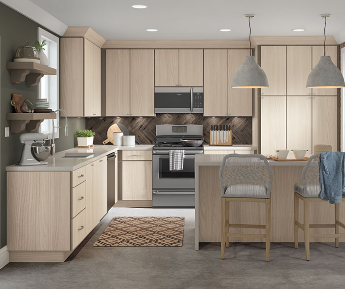Contemporary Textured Laminate Kitchen Cabinets