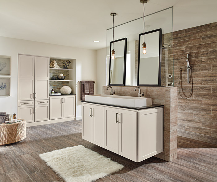 Off white bathroom cabinets homecrest for All american kitchen cabinets